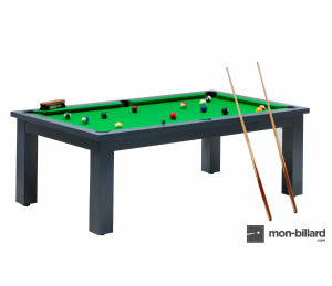 Billard Convertible Washington Gris Anthracite laqué
