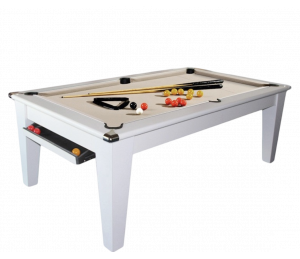Billard Convertible Supreme York Blanc 6 ou 7FT