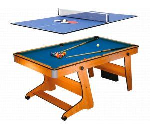 Billard Pliable BCE Clifton 6ft avec plateau Ping Pong