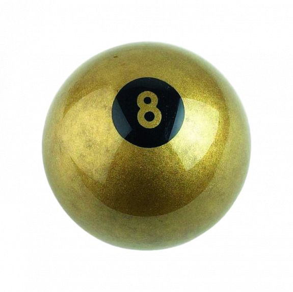 Bille Aramith n°8 - Ø 57.2 mm couleur or