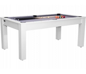 Billard convertible Guillaume 6 ft blanc