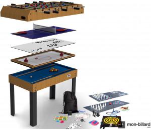 Table Multi Jeux Riley 21 en 1