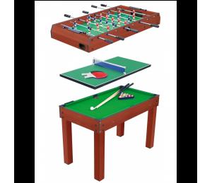Table multi jeux 3 en 1