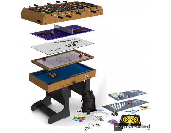 Table Multi Jeux Pliable Riley 21 en 1