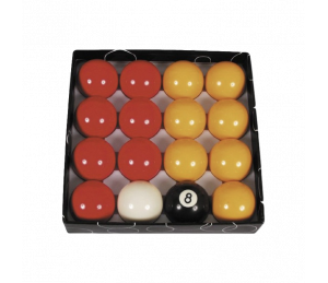 JEU BILLES POOL ø 50.8.mm Rouge/Jaune Standard