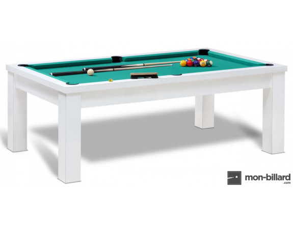 table de billard convertible bahia blanc un mod le billard de france. Black Bedroom Furniture Sets. Home Design Ideas