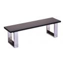 Banc billard table gris - Assise bois
