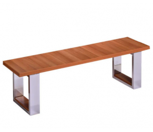 Banc pour billard convertible bois foncé - Assise en bois