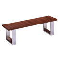 Banc billard table marron foncé - Assise bois