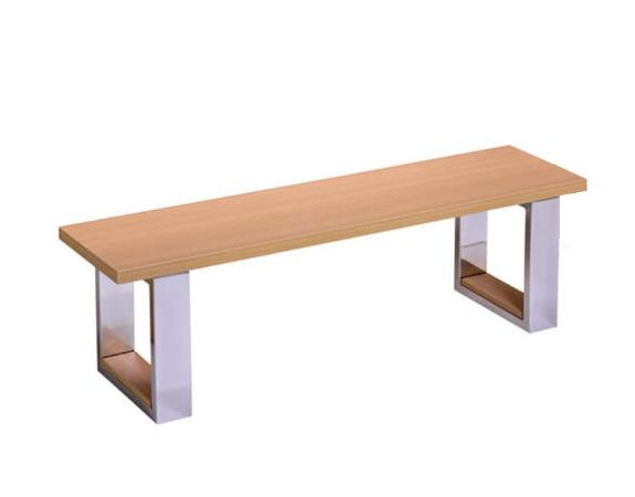 Banc pour billard convertible bois clair- Assise en bois