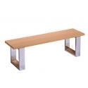 Banc billard table bois clair - Assise bois