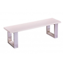Banc billard table blanc - Assise bois