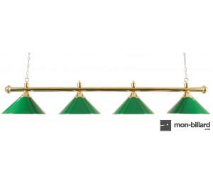 Luminaire Lustre 4 coupoles vertes, 180 cm