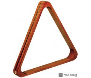 Triangle en bois naturel pour billes 52,4 mm