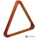 Triangle en bois naturel pour billes 57,2 mm