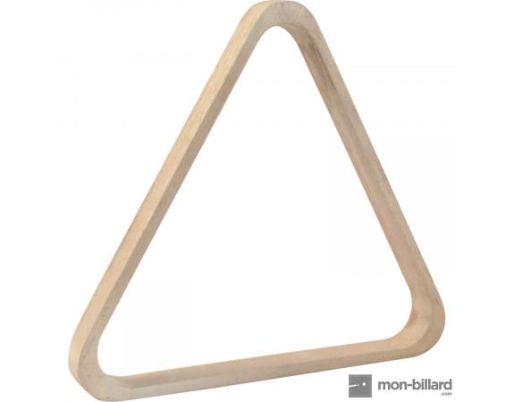 Triangle en bois blanc pour billes 57.2mm